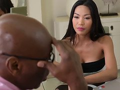 Office Porn With Horny Thai Polly Pons And Her Black Master