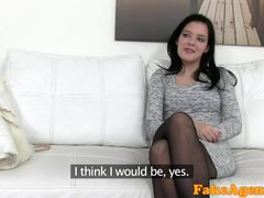 FakeAgent Fit skinny model seduced and fucked by agent