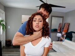 Curly-haired angel with big boobs Kira Perez fucked from behind