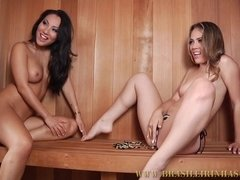 Sauna Girls Interracial Porn