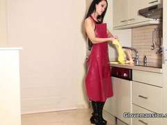 Glove Mansion – Cum on gloves and apron