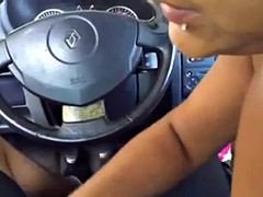 romanian girl blowjob and swallow in car