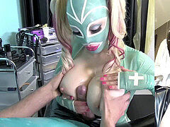 Cum-shot, jizz, rubber doll