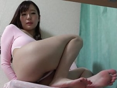 Japanese Skinny Kitten on Leotard & Cameltoe
