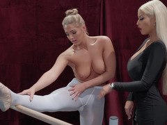 Usual lesson for a young ballerina turned into hot lesbian sex