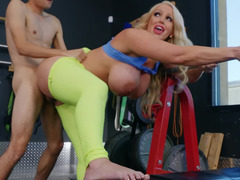 Alura TNT Jenson is fucked by Ricky Spanish in the gym
