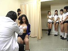 Doctor examine beautiful Asian babes in a hot outfit