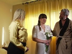 Brand-new sister wife joins the family by blowing her new husband