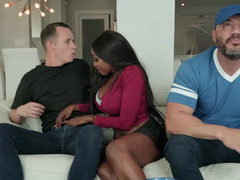 Lucky boy fucks new Ebony stepmother behind father's back