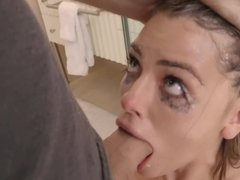 Adriana Chechik gets her make-up ruined after brutal fucking