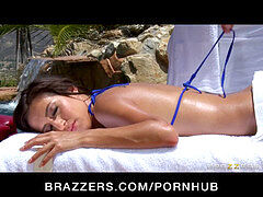 incredibly sizzling bikini-clad April Oneil is fucked by her masseur