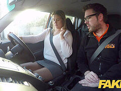 faux Driving college Czech babe Nikky Dream orgasms during hard smashing