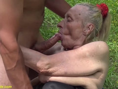 extreme ugly 86 years old mom first public fuck