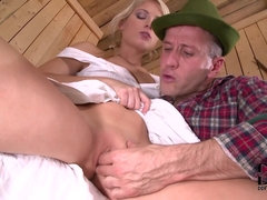 Czech Girl Sweet Cat Farm Girl's Fantasy