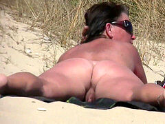 unexperienced naturist voyeur Fat MILF Close-Up Video