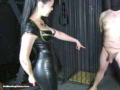 steaming mind-blowing mistress ballbusting