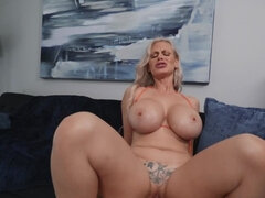 Busty cougar is in a highly-aroused state of mind