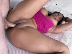 Huge tits look amazing on this magnificent sexy Latina goddess