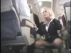 Flight attendent upskirt