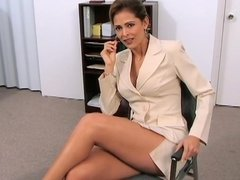 Classy business woman likes her client