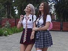 Kinky schoolgirls going each and all crazy