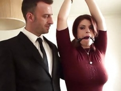 PASCALSSUBSLUTS - Bigtitted Lucia Love Destroyed By Masters Backdoor