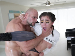 Temptation makes chick allow jock to shove big cock inside