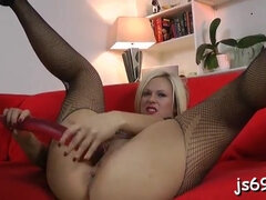 Jaw-Dropping platinum-blonde anna fun frigged and romped rock hard