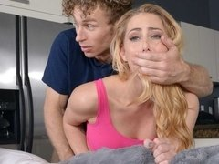 Lovely busty blonde Carter Cruise craves his loaded young dick