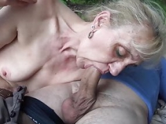 86 complete years aged granny rough outdoor banged