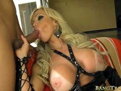 Busty blonde mature shemale anal slammed by nasty man