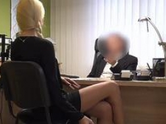 VIP4K. Blonde sweetie with pigtail is owned by loan manager for cash