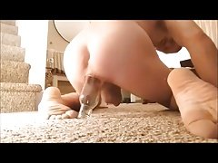 nakedguy1965 panty pantyhose bottle insertion