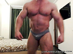 Ultra ample powerful Alpha Muscle Daddy Body Builder ripples and