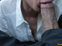 Good Secretary Blowing Penis In Car
