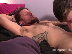 Straight man Corey Gunz gets a oral pleasure from youngster Javier Santini