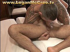 Benno and Logan Part 1 xxx softcore rubdown LoganMcCree.tv