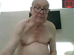 grandpa jerking off & cum