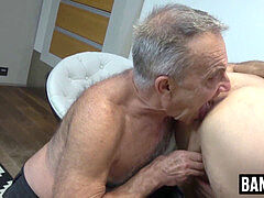 Old guy gets his hands on a youthful stud's juicy fat meat pole