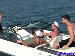 Sailor uniform gay group orgy on land