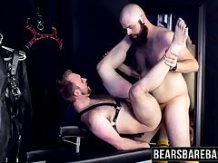 Horny and hairy huge guys sucking and fucking hardcore