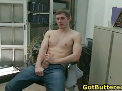 Lucky gay dude gets anus filled with cock