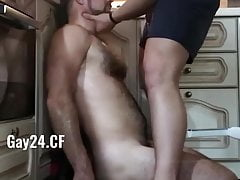 Dominant gay makes subordinate suck cock