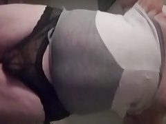 Bubble butt sissy smacking ass!