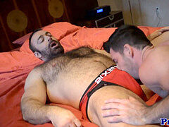 unshaved fag bear boning his hunky boyfriend