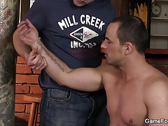 Gay bear sex in the bar
