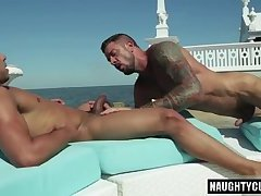 Tattoo gay anal sex and cumshot