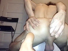 humungous DILDO in TIGHT ASSED TWINK, BIG hard-on popshot