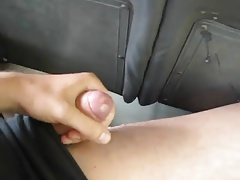 Asia Boy Cum in Bus