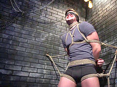 Tied up restrain bondage victim bum fingered